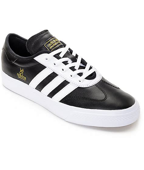 adidas adiease universal black white leather shoes at zumiez pdp