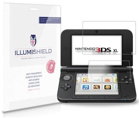 nintendo 3ds xl screen protector 3 pack illumishield japanese ultra clear hd with anti