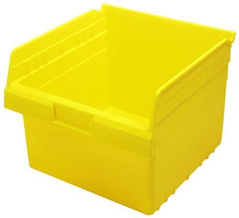 plastic storage bins 8 quot shelf bin qsb809 11 5 8 x 11 1
