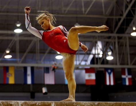 shawn johnson gymnastics wardrobe malfunctions shawn johnson in xvi pan american games day 10 1 of 12