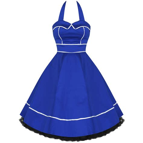 Kleid Swing Blau by 50er Jahre Rockabilly Kleid Damen Prom Pinup Swing