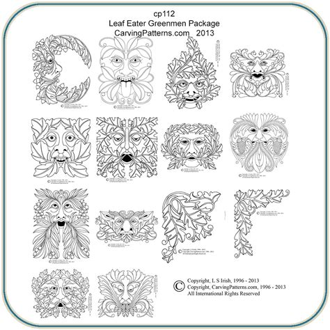 leaf eaters greenmen patterns classic carving patterns