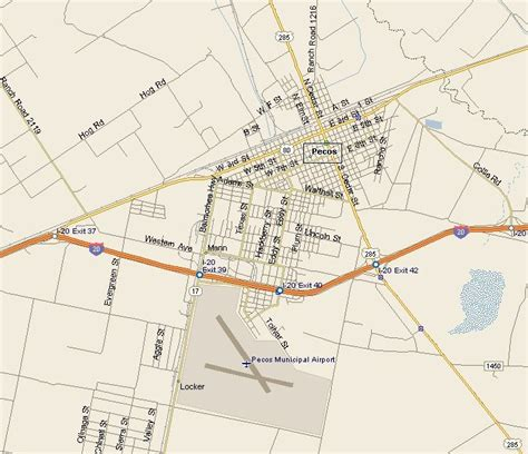 map of pecos texas pecos texas map