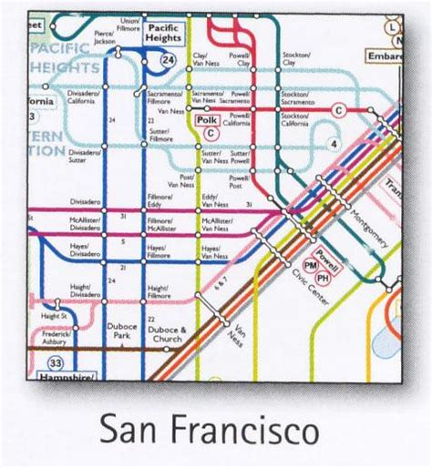 san francisco trolley map san francisco transport map usa trolley cable car tram bart and cal map map stop