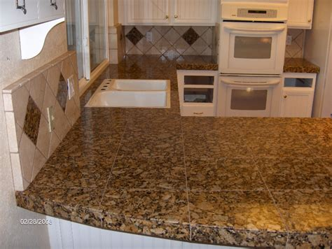 Granite Tile Countertop by Modern Tile Design