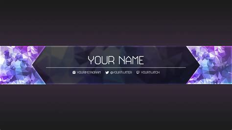 design banner youtube free youtube banner templates helmar designs regarding