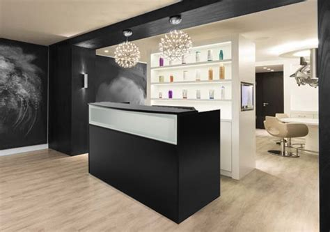 salon front desk furniture black salon reception desk