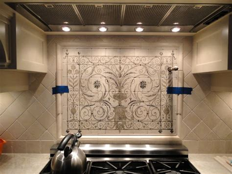 painted tile backsplash painted tile backsplash themes cabinet hardware
