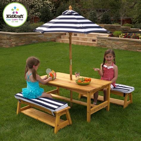 kidkraft outdoor table and chair set amazon com kidkraft outdoor table and chair set with