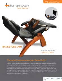 Chair With Laptop Desk Chair Pc Laptop Computer Desk Table For The Zerogravity Chair By Human Touch