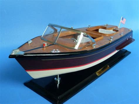 buy wooden chris craft runabout model speedboat 20 inch - Speed Boat Models