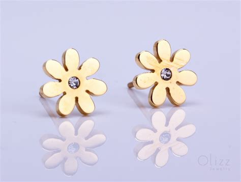 Flower Studs bridesmaid earrings flower jewelry epiales