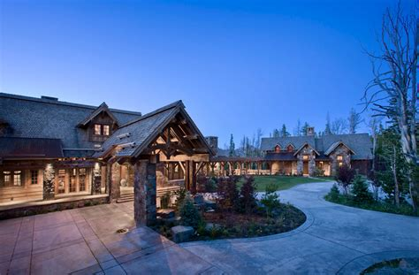 Cabin Plans For Sale Rustic Elegance In The Yellowstone Club In Big Sky
