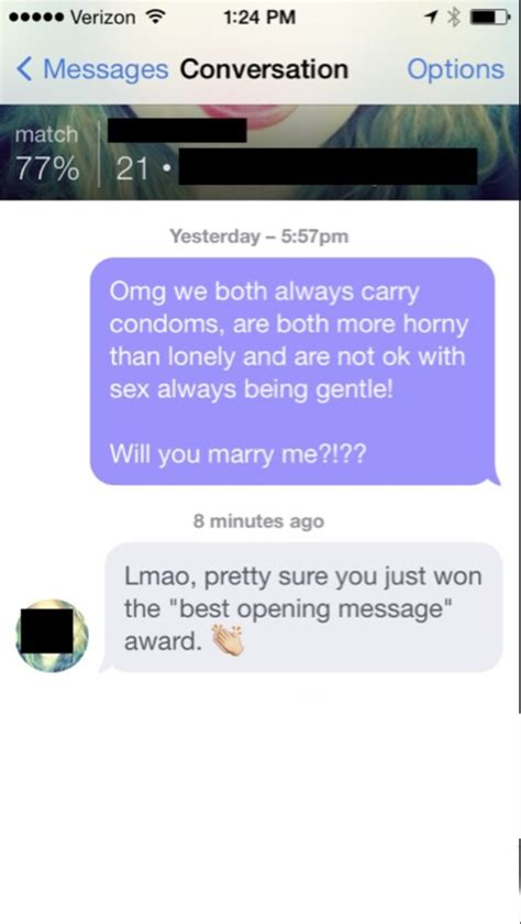 Dating site tips first message on tinder