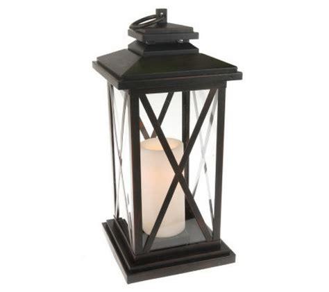 Qvc Outdoor Lighting Bethlehem Lights 16 Quot Indoor Outdoor Criss Cross Lantern W Timer Qvc