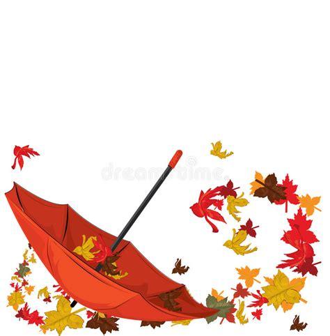 clipart autunno ombrello di autunno illustrazione vettoriale