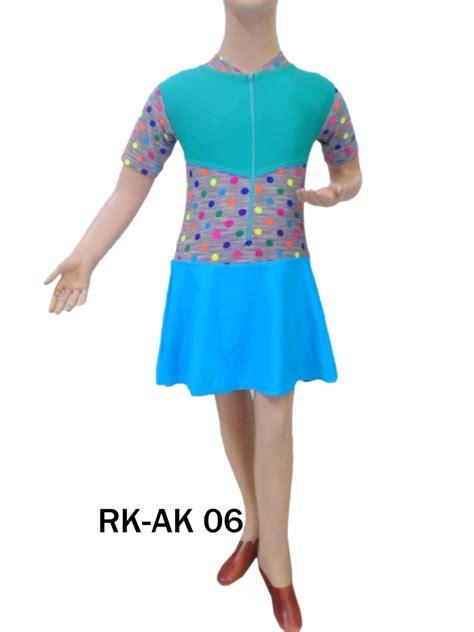 Baju Renang Rok Anak Tk Polkadot Pink busana renang diving rok anak perempuan rk ak 06