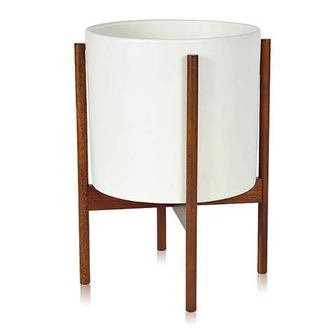 Standing Planter Tinggi 30cm Diameter 20cm top3 by design modernica cs cylinder wood legs l white