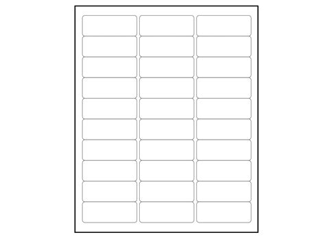 2 X 8 Label Template 6000 blank 1 x 2 5 8 address labels downloadable label