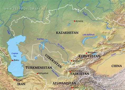 south central asia physical map central asia physical map