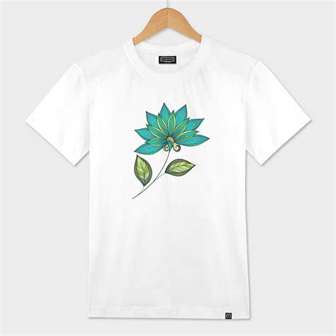 Blue Flower T Shirt 171 blue flower 187 s classic t shirt by mikart curioos