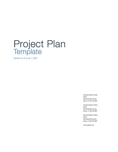 project cover page template project plan templates apple iwork pages numbers