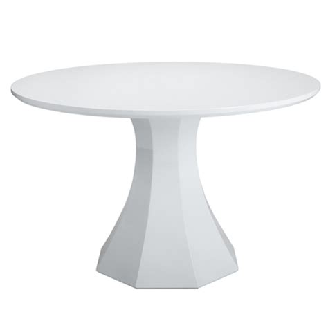 White Circular Dining Table Sanara High Gloss White Dining Table Buy Other Tables
