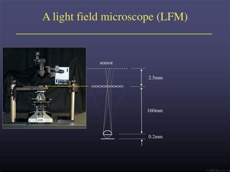 Light Field by Ppt Light Field Microscopy Powerpoint Presentation Id