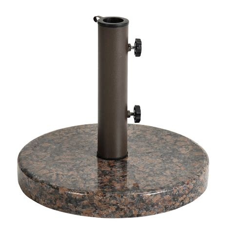 Patio Umbrella With Stand Astonica Coffee Granite Patio Umbrella Stand Base Ebay