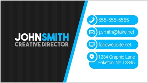 Inkscape Template Business Card by Modern Business Card Design In Inkscape