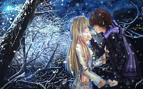 anime boy girl couple  love hd wallpaper love