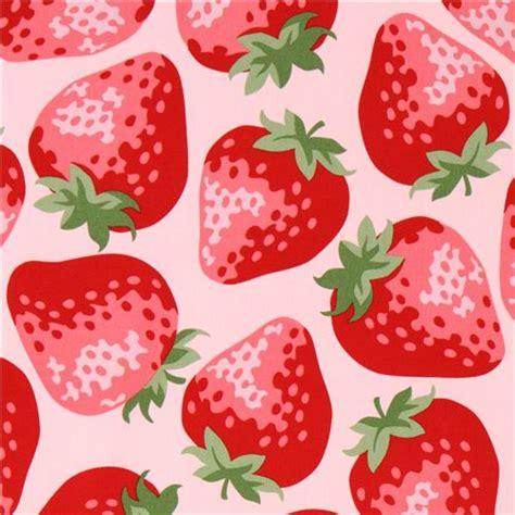 Label Segi 4 Motif Strawberry Pink pink big strawberry fabric from kokka japan food fabric