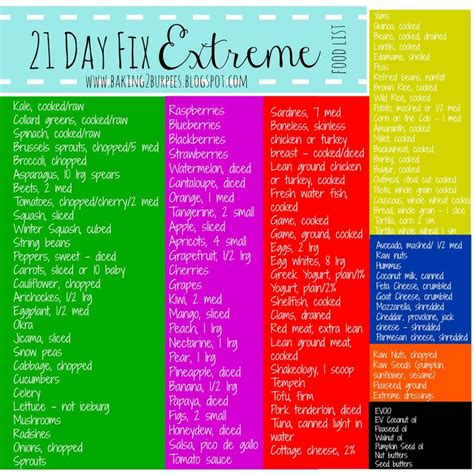 21 Day Sugar Detox Approved Food List by 45 Best 21 Day Fix Images On 21 Day