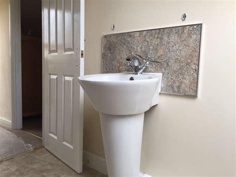 splashbacks for bathroom sinks intricate bathroom sink splashback the perfect solution