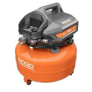 ridgid 6 gal portable electric pancake compressor