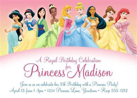 free disney princess birthday invitation cards disney princesses birthday invitations disney princess
