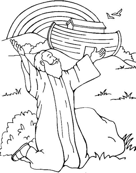bible story coloring pages bible story coloring pages god gives a rainbow