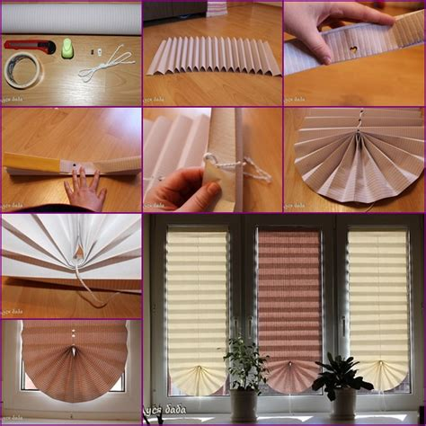 How To Make A Paper Window - diy pull up paper fan window shade tutorial