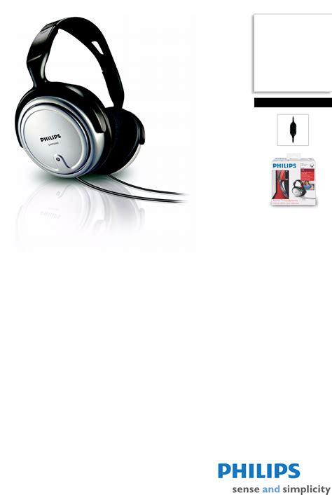 Headset Philips Shp2500 philips headphones shp2500 user guide manualsonline