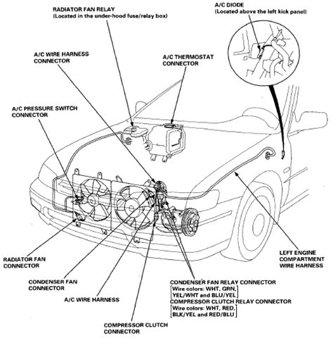 wiring and connectors locations of honda accord air