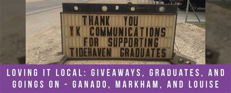 Free Local Giveaways - loving it local giveaways graduates and goings on ganado markham and louise