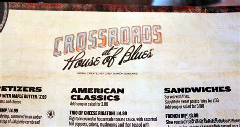 House Of Blues Orlando Menu by Review Crossroads At House Of Blues At Walt Disney World