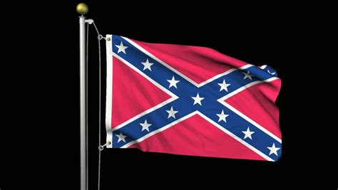 design and meaning of the confederate flag seamless looping high definition video of the confederate