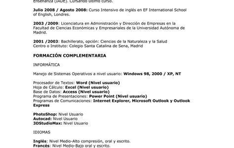 plantillas de curriculum unam modelo de curriculum vitae occ modelo de curriculum vitae