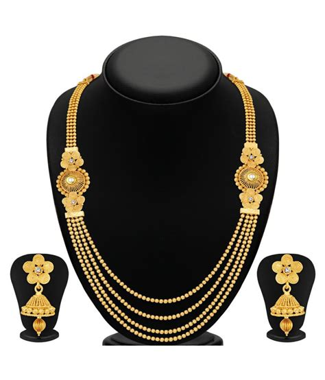 Golden Set sukkhi golden necklace set buy sukkhi golden necklace