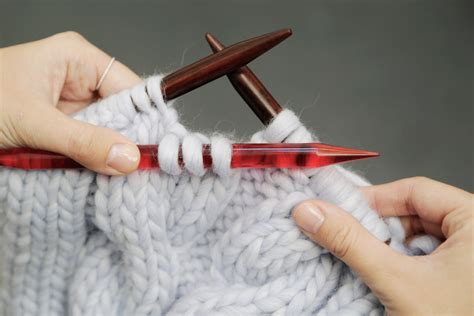 cable needle knitting how to knit cables watg