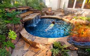 Backyard Pools Spas Spool Half Pool Half Spa Joe Dipaulo