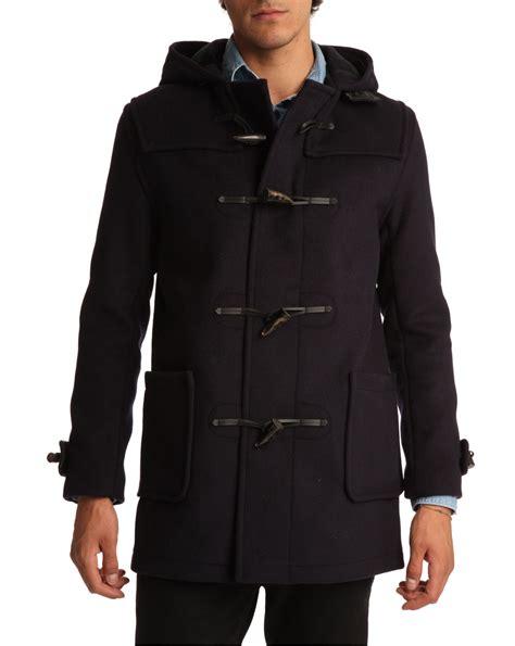 Coat 04 Navy mens navy blue duffle coat jacketin