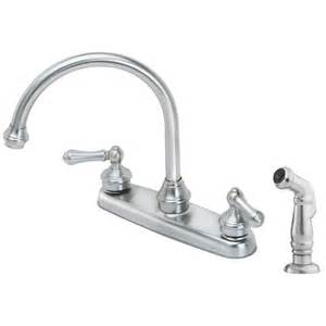 kitchen faucet pfister price pfister f 8h6 85ss stainless steel two handle with sidespray kitchen faucets