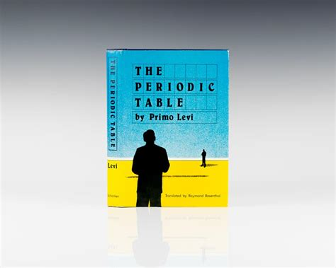 Primo Levi Periodic Table by The Periodic Table Primo Levi Edition Signed